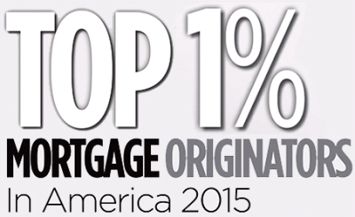 Top 1 Percent Mortgage Originators in America 2015
